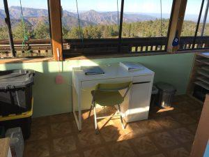 Chews Ridge Lookout - Interior with Desk